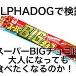 【ALPHADOGで検証】スーパーBIGチョコは大人になっても食べたくなるのか。。。?【小説風】