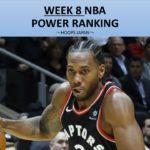 【NBA速報】WEEK8までの勝率で見るNBAランキング
