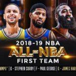 【NBAニュース】オールNBA2019 のファーストチーム決定