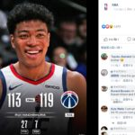【NBAニュース】八村塁NBAがFacebookでプレイヤーオブザマッチに