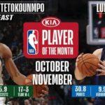 【NBAニュース】2019年NBA月間アワード10月~11月