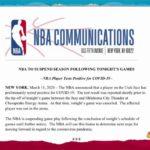 【NBAニュース】NBAが2019-20年シーズンを中止に