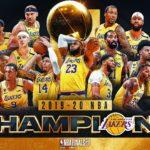 【NBAニュース】2019-20年シーズンNBAチャンピオン~ロスアンゼルス・レイカーズ~