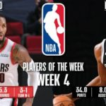 【NBAニュース】第4週の週間最優秀選手にデイミアンリラードとケビンデュラントが選出