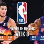 【NBAニュース】第8週の週間最優秀選手にデビンブッカーとサディックベイが選出