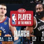 【NBAニュース】3月度月間最優秀選手にヨキッチとハーデン、月間最優秀新人にエドワーズとボールとが選出される